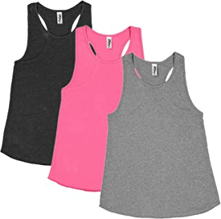 Marky G Apparel Girls' Relaxed Racerback Tank Top (Pack of 3)
