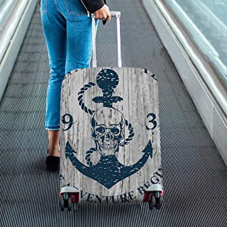 Nautical skull marine Theme Print on Suitcase Protectors Dust Proof Luggage Covers Fit 18-28 Inch Luggage