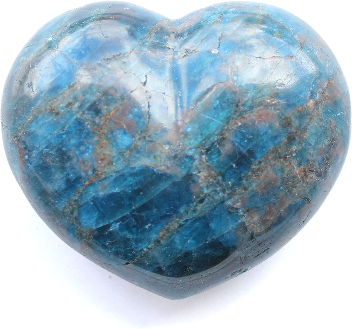 New product Madagascar New popularity Minerals Apatite Heart Small Decorative