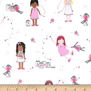 Michael Miller Minky Twinkle Twinkle Little Stars Fabric, Sparkle, Fabric By The Yard