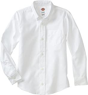 Boy's Long Sleeve Oxford Shirt, White, XS