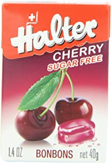 Halter Sugar Free Candies, Cherry, 1.4000-Ounce (Pack of 8)
