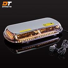 "16"" 132W Amber LED Mini Light Bar - Waterproof Magnetic Roof Top Mount Emergency Strobe Warning Flashing Light Bar for Tru..."