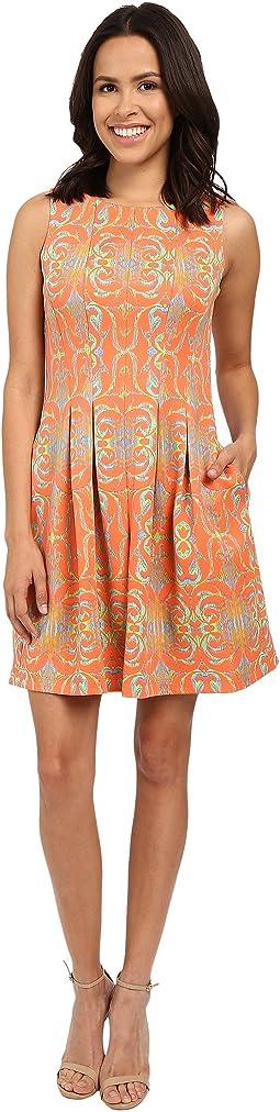 Elyse Sleeveless Pleated Dress
