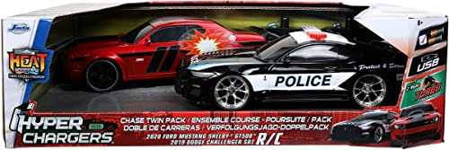 high quality Jada Toys Hyperchargers 1:16 2020 Ford Mustang Shelby outlet sale GT500 & 2019 Dodge Challenger SRT Remote Control Car, Toys online for Kids and Adults sale