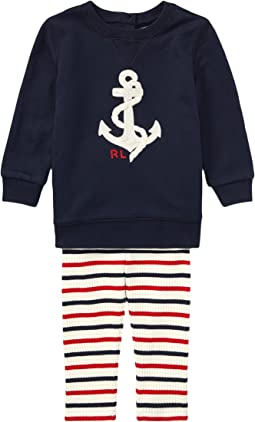 Ralph Lauren Baby - Anchor Top & Leggings Set (Infant)
