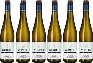Weinbiet Manufaktur eG Gimmeldinger Meerspinne Kerner Halbtrocken Weißwein 6 x 0.75 l