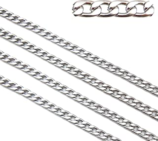 16.5ft Stainless Steel Figaro Chains Findings Fit for Jewelry Making &DIY (SC-1007-B)