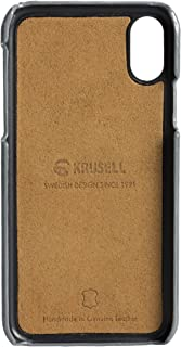 Krusell Sunne 2 Card Wallet Case for Apple iPhone X/Xs Premium Leather Case, Vintage Grey