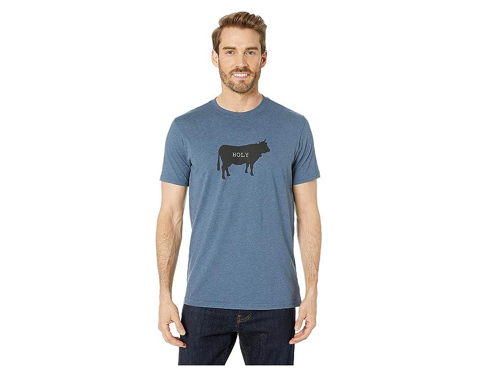 Prana Holy Cow Journeyman T-Shirt (Denim Heather) Men
