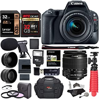 Canon EOS Rebel SL2 DSLR Camera + EF-S 18-55mm is STM, [Canon sl2 has Almost The Exact Features of The Rebel T7i in Compact Version] Includes 1 Year Full Manufacture Warranty+ Total 96GB & Much More.