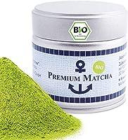 Premium Bio Matcha z Japonii, stopień Ceremonialny, bez pestycydów, herbata w proszku, ekstra drobna w puszce 30 g,...