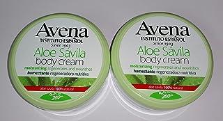 Set of 2 Avena Instituto Espanol Aloe Savila Body Cream Moisturizing Regenerates & Nourishes 6.7 oz