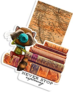 Woodland Magic Magnetic Bookmark | Planner Page Marker (Racoon Explorer)