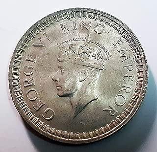 1942 British India, George V, Silver Coin, Calcutta Mint, (UNC Superb Details)