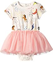 Rock Your Baby - Unicorn Rainbow Short Sleeve Circus Dress (Infant)