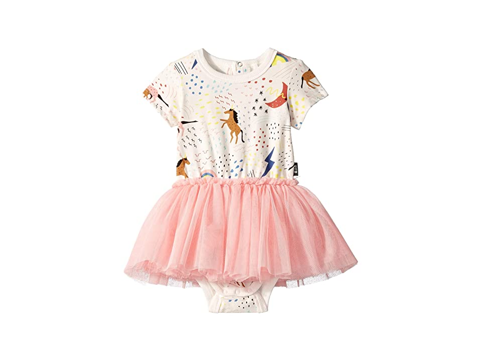Rock Your Baby Unicorn Rainbow Short Sleeve Circus Dress (Infant) (Dusty Pink) Girl