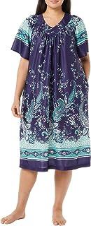فستان منزلي بأكمام قصيرة مع جيوب جانبية للنساء من AmeriMark
