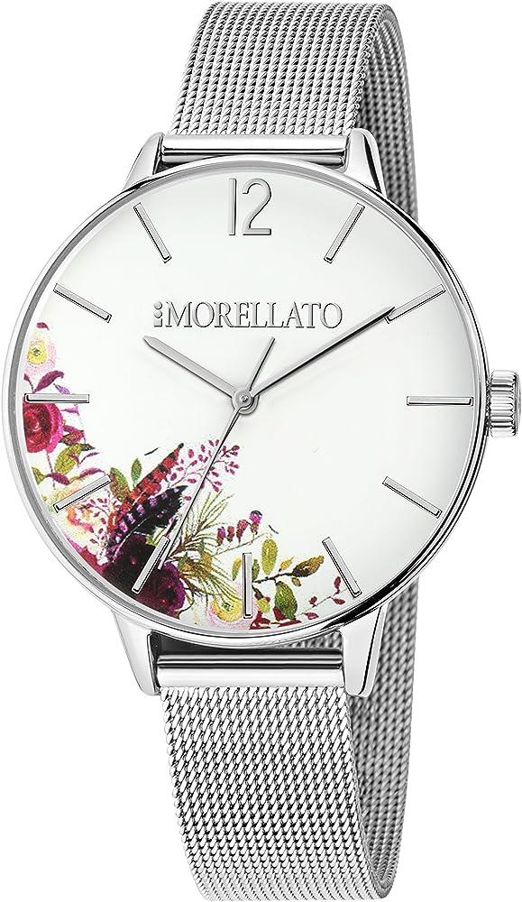 morellato, orologio analogico al quarzo per donna, in acciaio inossidabile r0153141529