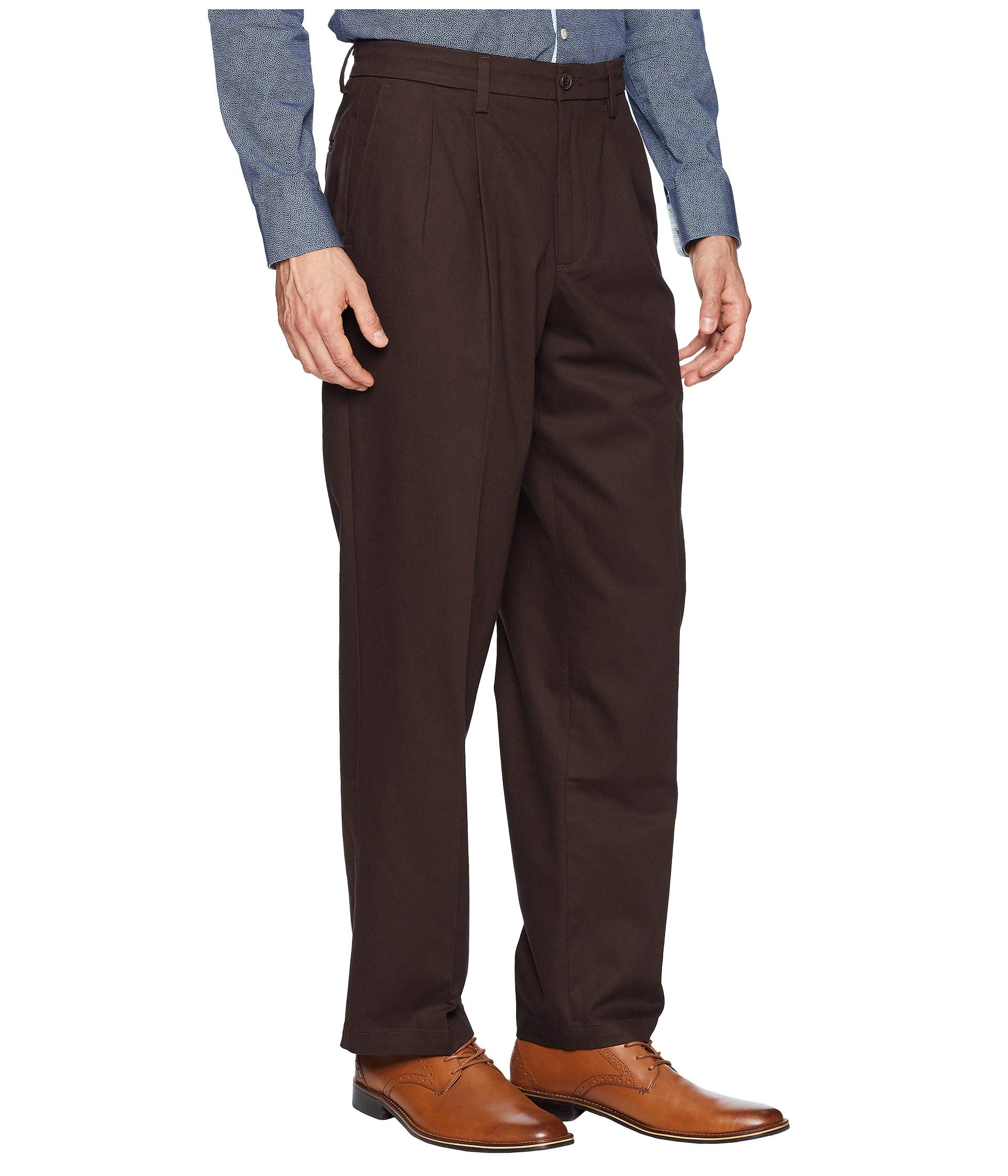 Khaki Fit Signature Pleated Cotton Stretch Lux Dockers D3 Mole Pants Classic 5tCw1Enq