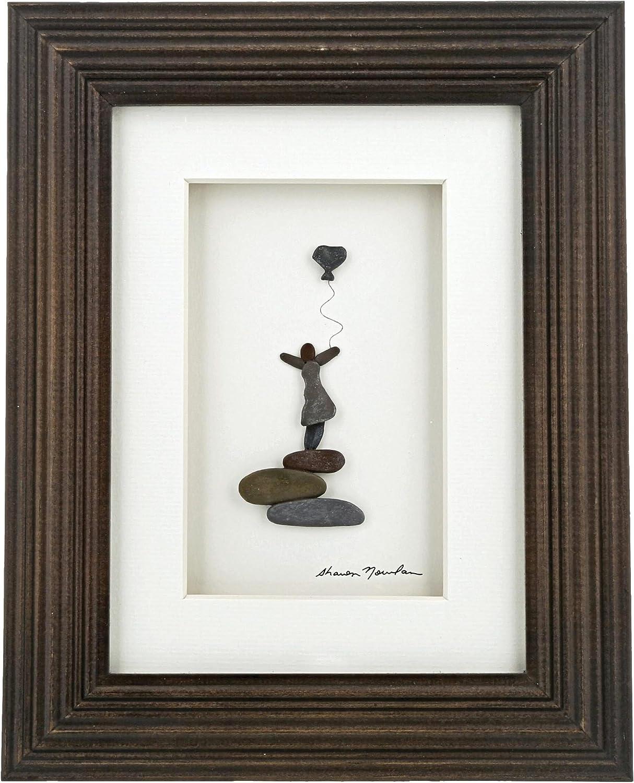 DEMDACO Sharon Nowlan Follow Your Heart Espresso Finish 8 x 10 Dimensional Framed Wall Art Plaque