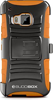 HTC One M9 Case, BUDDIBOX [HSeries] Heavy Duty Swivel Belt Clip Holster with Kickstand Maximal Protection Case for HTC One...