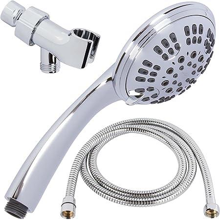 Handheld Shower Head Bathroom Top Sprayer Round Shape Shower Head for Home @qa