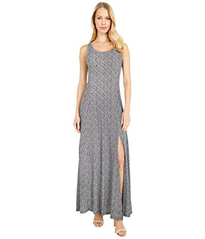 MICHAEL Michael Kors Paisley Geo Scoop Neck Maxi (Black/White) Women