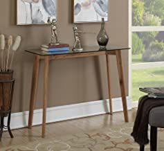 Convenience Concepts Clearview Console Table, Natural/Glass