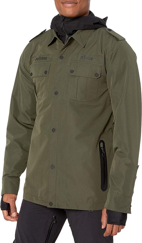 Volcom Men's Creedle2stone Military Style Snow Jacket