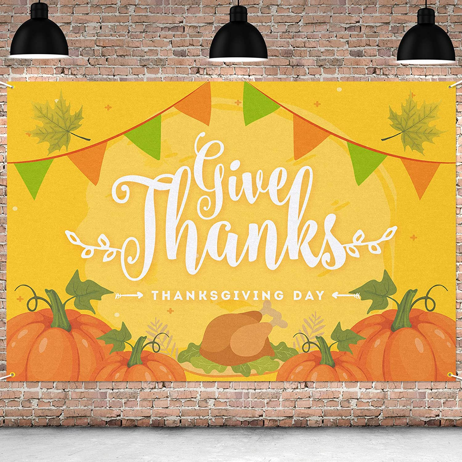Cheap super special price PAKBOOM Give Thanks Banner Backdrop Virginia Beach Mall - Thanksgiving Decorati Fall