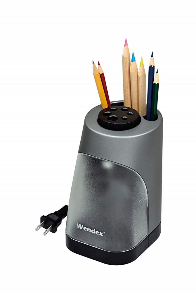 WENDEX 6-HOLE Heavy-duty Vertical Electric Pencil Sharpener for school, office and home use. UL Certified.