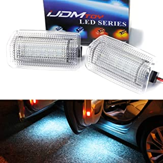 iJDMTOY (2) Full LED Side Door Courtesy Light Assy For Lexus IS ES GS LS RX GX LX Toyota Avalon Sienna Venza Camry Prius 4Runner, OEM Replacement, Powered by 18-SMD Ice Blue LED