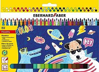 Eberhard Faber 551150 flamastry z cienką końcówką, etui kartonowe 50 szt.