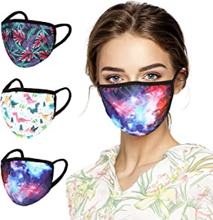 3 Pack Cotton Unisex Face Reusable for Cycling Camping Travel for Kids Teens Men Women