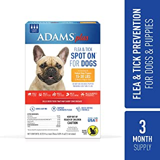 Adams Plus Flea and Tick Spot On for Dogs,