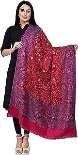 La Vastraa 纯羊毛手工刺绣女式披肩和披肩 - 披肩和晚礼服披肩
