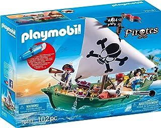 PLAYMOBIL Barco Pirata con Motor Submarino 70151, Carbón