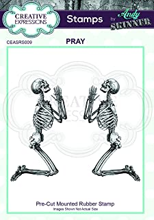 Creative Expressions Cut Rubber Stamp by Andy Skinner-Pray, Grey, 6.3 x 8 cm
