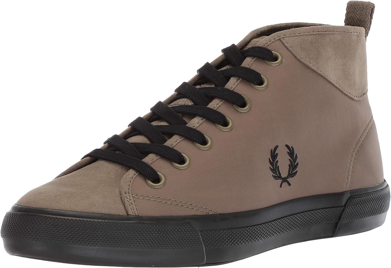 Fred Perry Men's Horton Mid Ripstop Microfibre Sneaker
