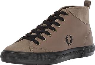 Fred Perry Men's Horton MID Ripstop/Microfibre Sneaker, Dust, 8 D UK (9 US)