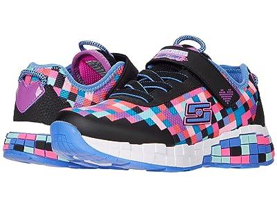 SKECHERS KIDS Sport Power Pixels (Little Kid/Big Kid) (Black/Multi) Girls Shoes