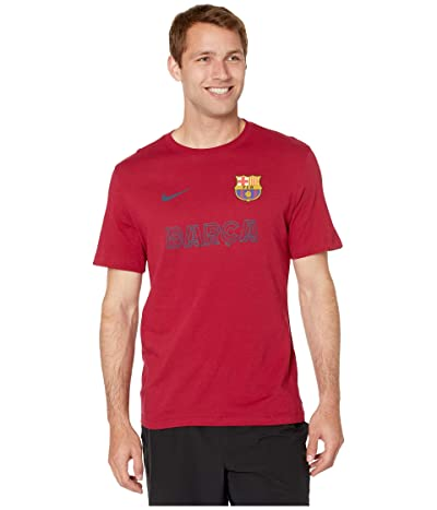 Nike Barcelona Core Match Mock Neck Tee (Noble Red) Men