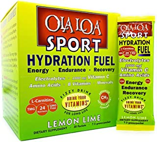 Ola Loa Sport Lemon Lime All-Natural Hydrating Sports Drink Mix - Energy, Amino Acids, Electrolytes, Vitamin C, Vitamin B,...