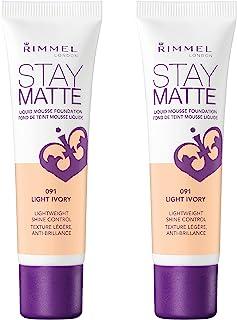 Rimmel, Stay Matte Foundation, Light Ivory (2-Pack)