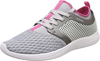 Power Women's Glide Funnel L.Grey and Pink Running Shoes-4 UK (37 EU) (5082193)