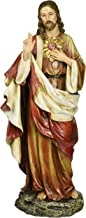 Renaissance Collection Joseph's Studio by Roman 10.25 Inch Tall Sacred Heart of Jesus Figure, Made of Stone Resin and Hand Painted