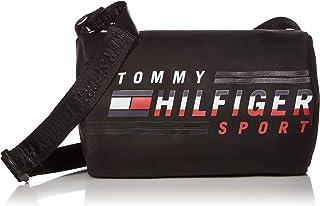 Tommy Hilfiger Bolsa esportiva transversal masculina, Bolsa esportiva masculina Tommy Hilfiger a tiracolo, Tommy Black, On...