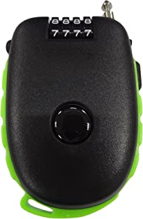 Bosvision Ultra-Secure 4-digit Combination Lock with 3 Feet Retractable Cable for Bike, Ski, Snowboard and Stroller (Blac...