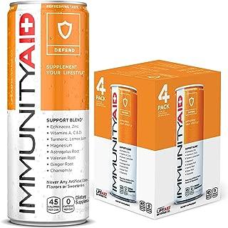 IMMUNITYAID Support Blend | No Artificial Flavors or Sweeteners | Contains Echinacea, Zinc, Astragalus & Vitamin C | 100% Clean, Vegan & Gluten-Free | No Sodium, No Caffeine, 12 Fl Oz, Pack of 4